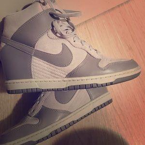 Nike sky hi dunks! Used